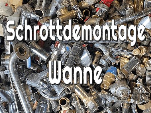 Schrottdemontage Wanne